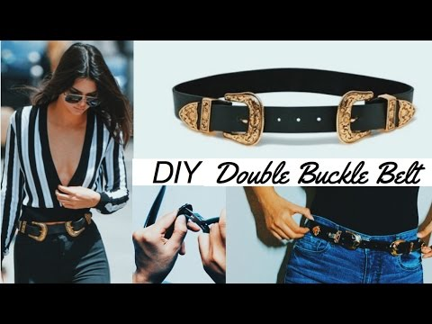 DIY WESTERN STYLE DOUBLE BUCKLE BELT (IN  Rs 200 / $3)