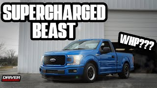 REAL WHP |  WHIPPLE SUPERCHARGED COYOTE FORD F-150 DRAG TRUCK!!