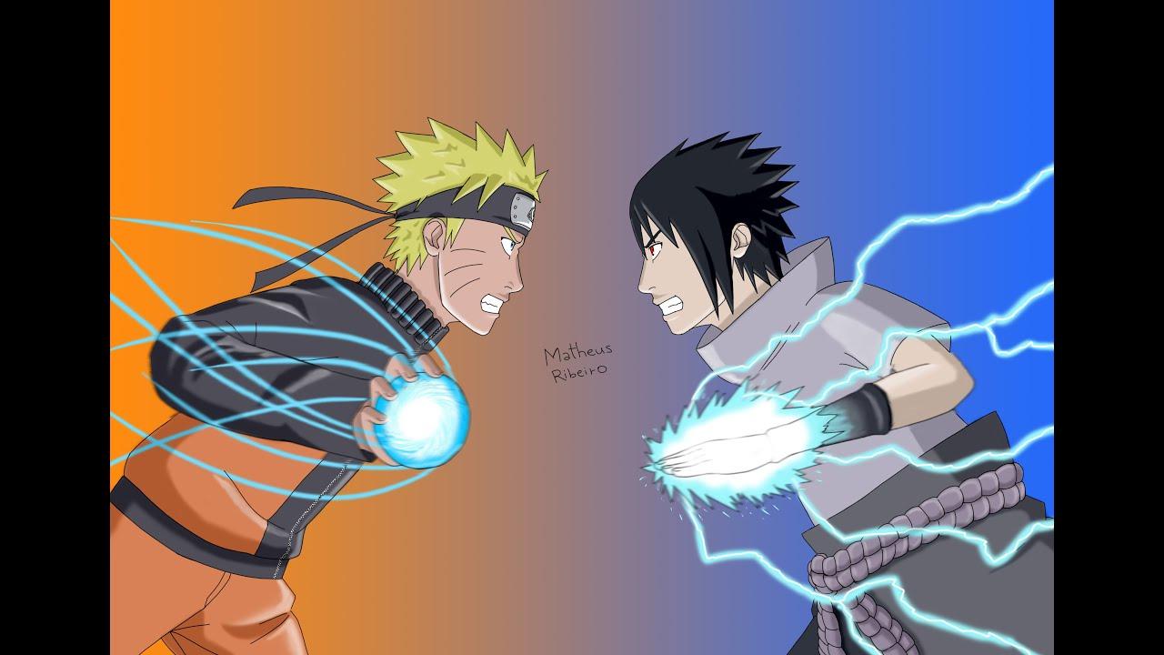 desenhando naruto vs sasuke drawing naruto vs sasuke naruto
