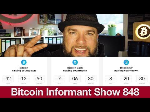 #848 Bitcoin Nutzung sinkt, Binance Kauf Coinmarketcap 400 Millionen & BCH, BSV, BTC Halving
