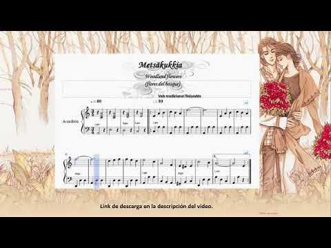 Metsakukkia. (woodland flowers).Vals finlandés. partitura para acordeón.