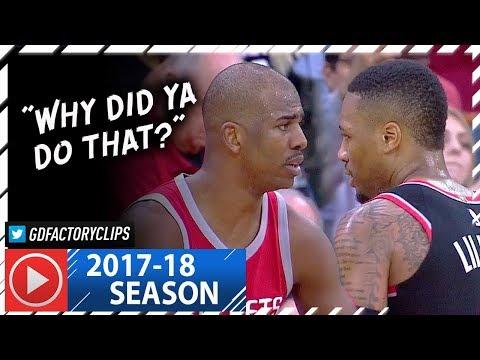 Chris Paul vs Damian Lillard PG Duel Highlights (2018.01.10) Rockets vs Blazers - EPIC!