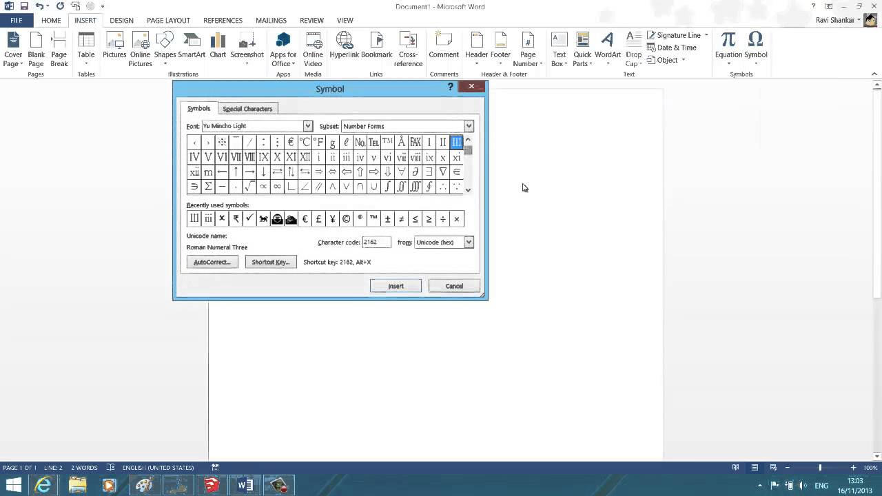 Insert numeric symbol in word 2013 youtube insert numeric symbol in word 2013 biocorpaavc Images