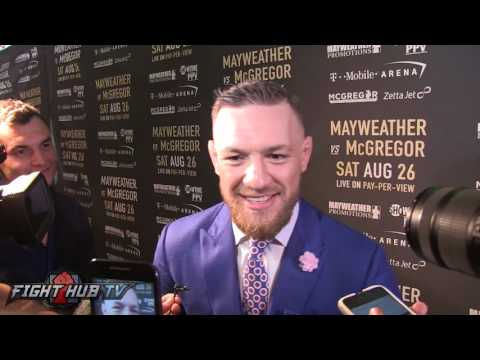 Conor McGregor Predicts Exactly How He Will KO Floyd 'I'll Catch Him With An Uppercut or Hook'