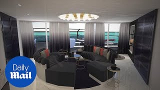 Animation shows stunning RockStar Suites by Virgin Voyages