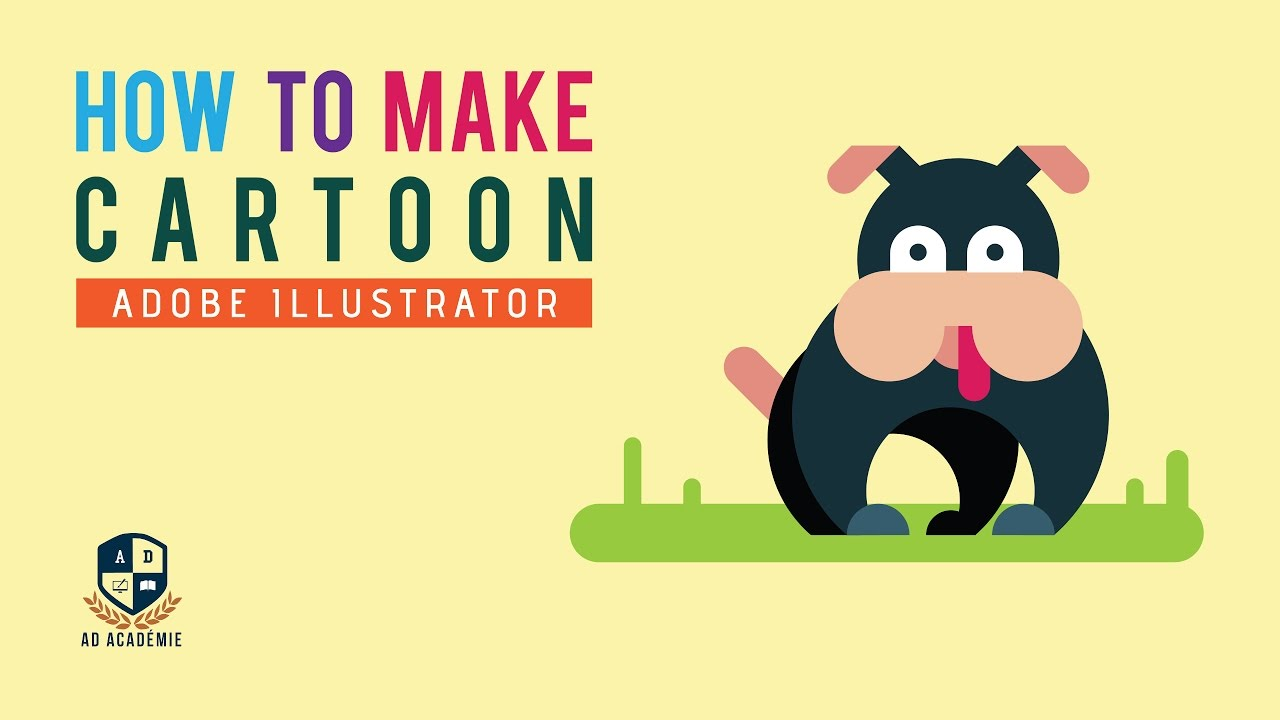 Illustrator tutorial how to make cartoon dog cartoon youtube illustrator tutorial how to make cartoon dog cartoon ccuart Images