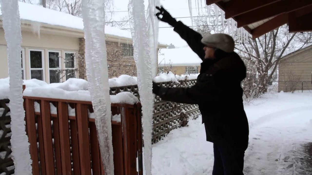 Removing Giant Icicles Youtube