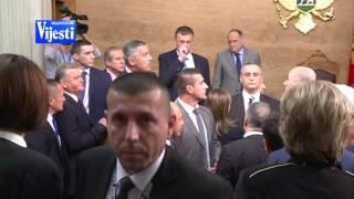 Snimak TV Vijesti: Incidenti u Skupštini Crne Gore