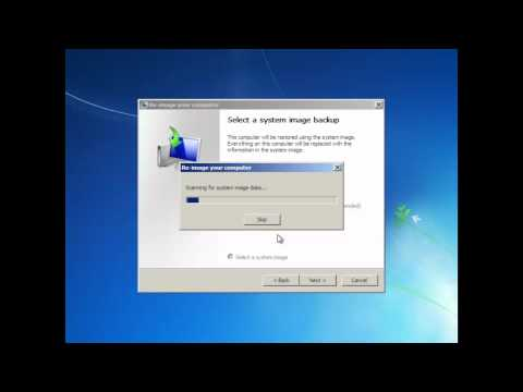 How To Restore Your Computer From System Image - Learn Windows 7