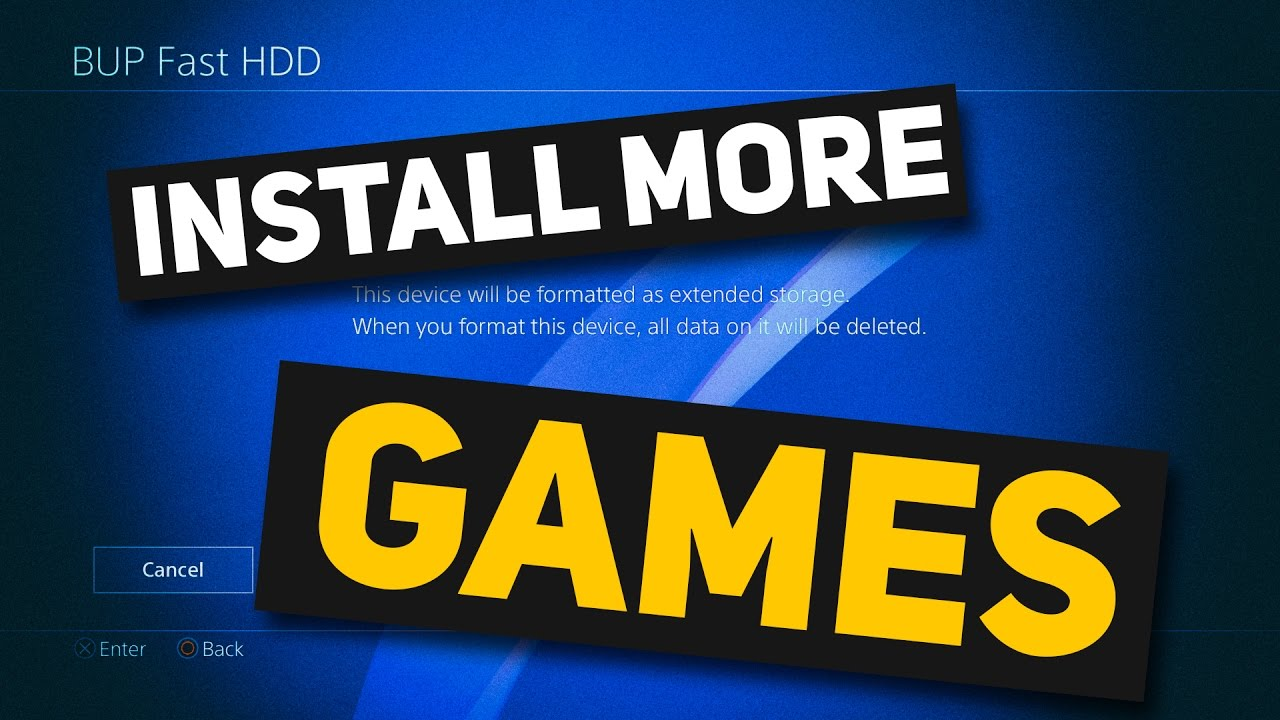 install more games by expanding PS4 storage capacity