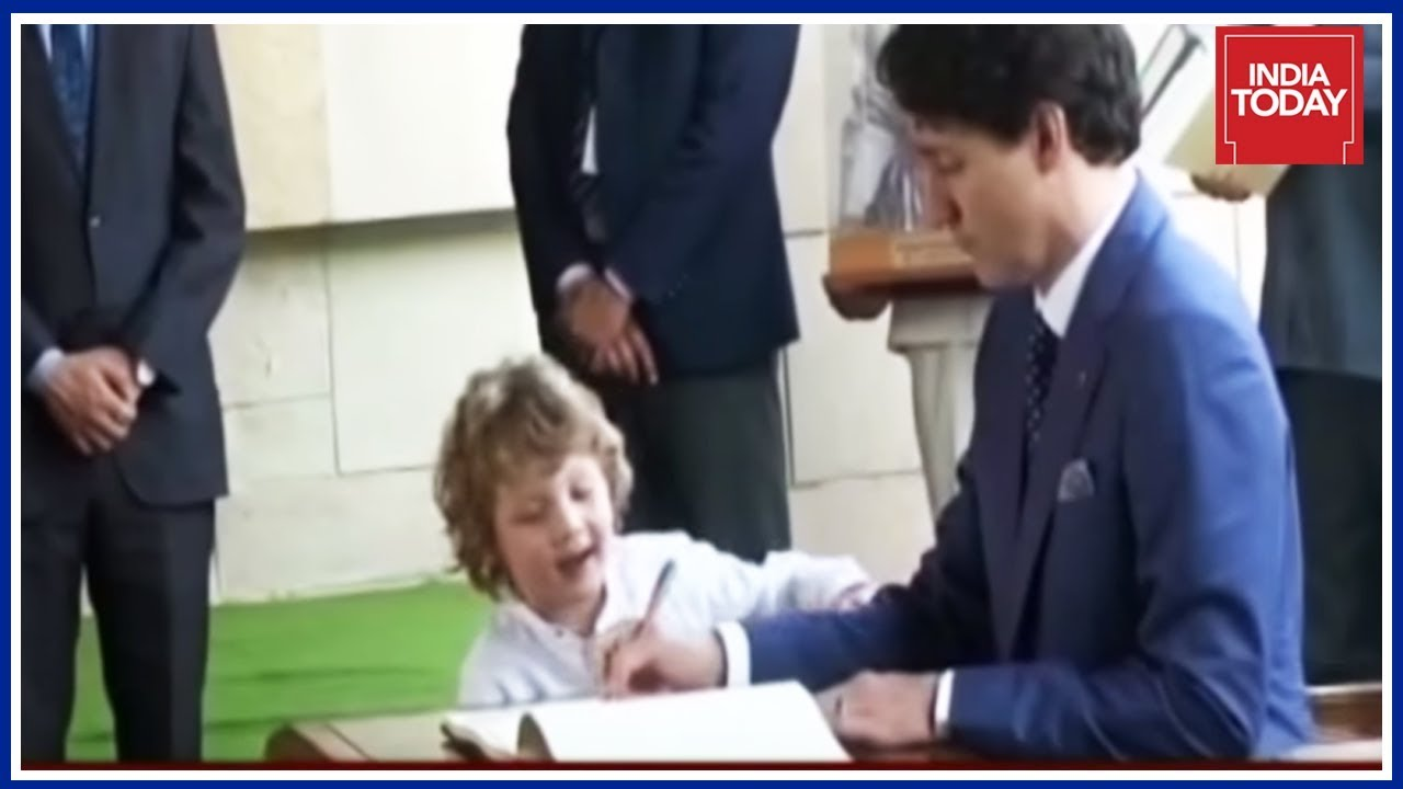 Justin Trudeau's Youngest Son Steals Show At Raj Ghat | India's Agenda