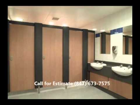 Commercial Restroom Remodeling Contractors Chicago Chicago Restroom - Bathroom partitions chicago