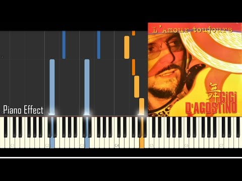 Gigi D'Agostino - L'Amour Toujours (I'll Fly With You) (Piano Tutorial Synthesia)