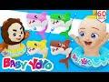 The Colors Song (Dancing Baby Shark) + more nursery rhymes & Kids songs - Baby yoyo