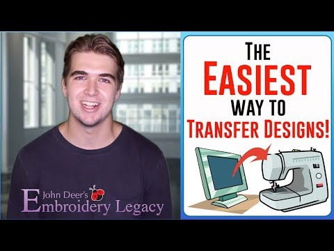 How To Transfer Designs From Computer To Embroidery Machine (EASIEST WAY!!!)