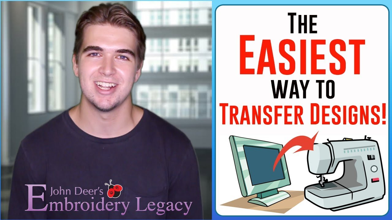How To Transfer Designs From Computer To Embroidery Machine Easiest Way Youtube