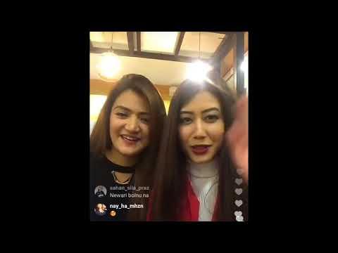 Miss Nepal Asmi Shrestha and Subeksha Khadka Live on Instagram thumbnail