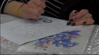 Уроки петриковской росписи от Т. Вакуленко