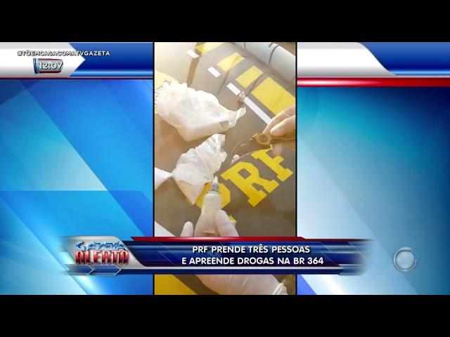 Polícia Rodoviária Federal prende três pessoas e apreende drogas na BR-364
