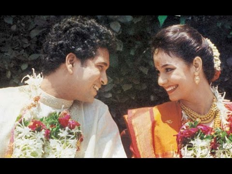 Image result for sachin and his wife wedding