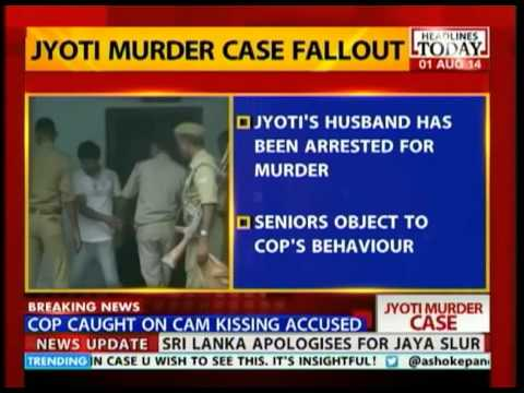 Kanpur murder case: Cop caught on camera kissing accused
