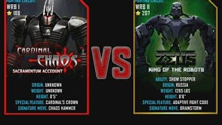 Real Steel WRB Cardinal Chaos VS Zeus NEW