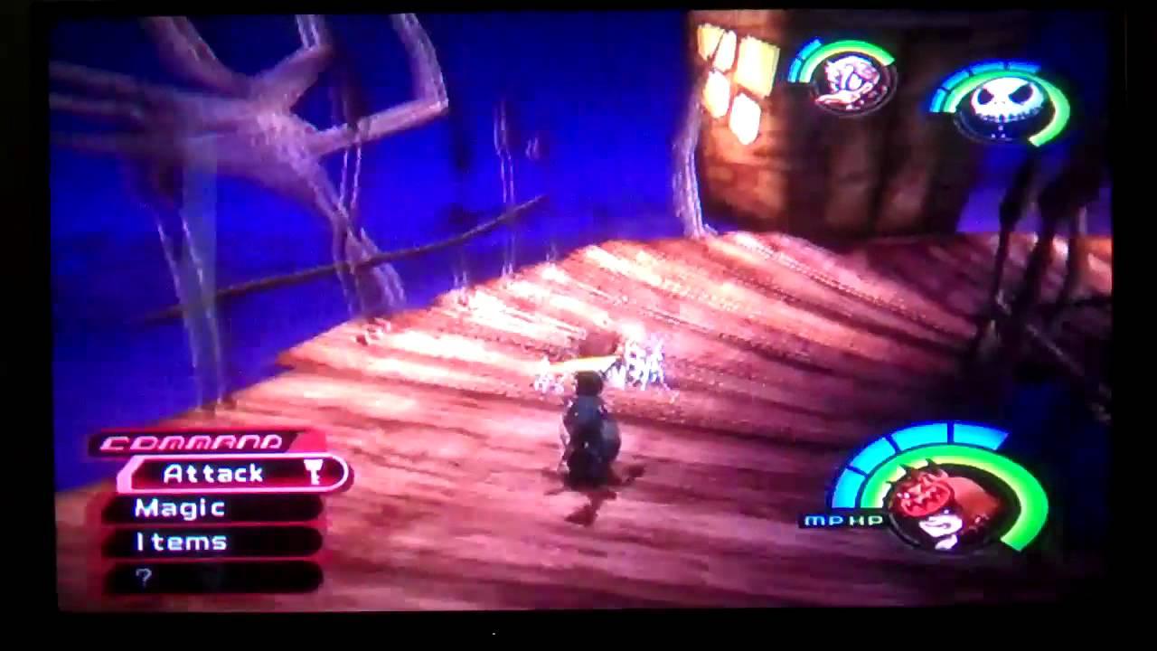 Kingdom Hearts Walkthrough Part 46 Halloween Town The Green Door
