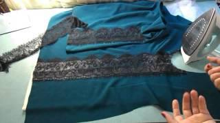 видео Ткань ажур