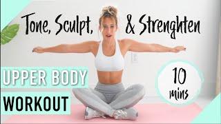 Arm, Shoulder, & Back Workout | HOME WORKOUT, No Equipment