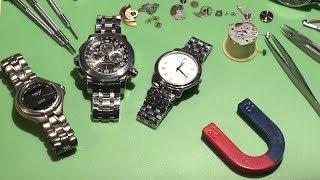 видео Как починить часы в домашних условиях. Ремонт часов своими руками. Пособие для начинающего мастера