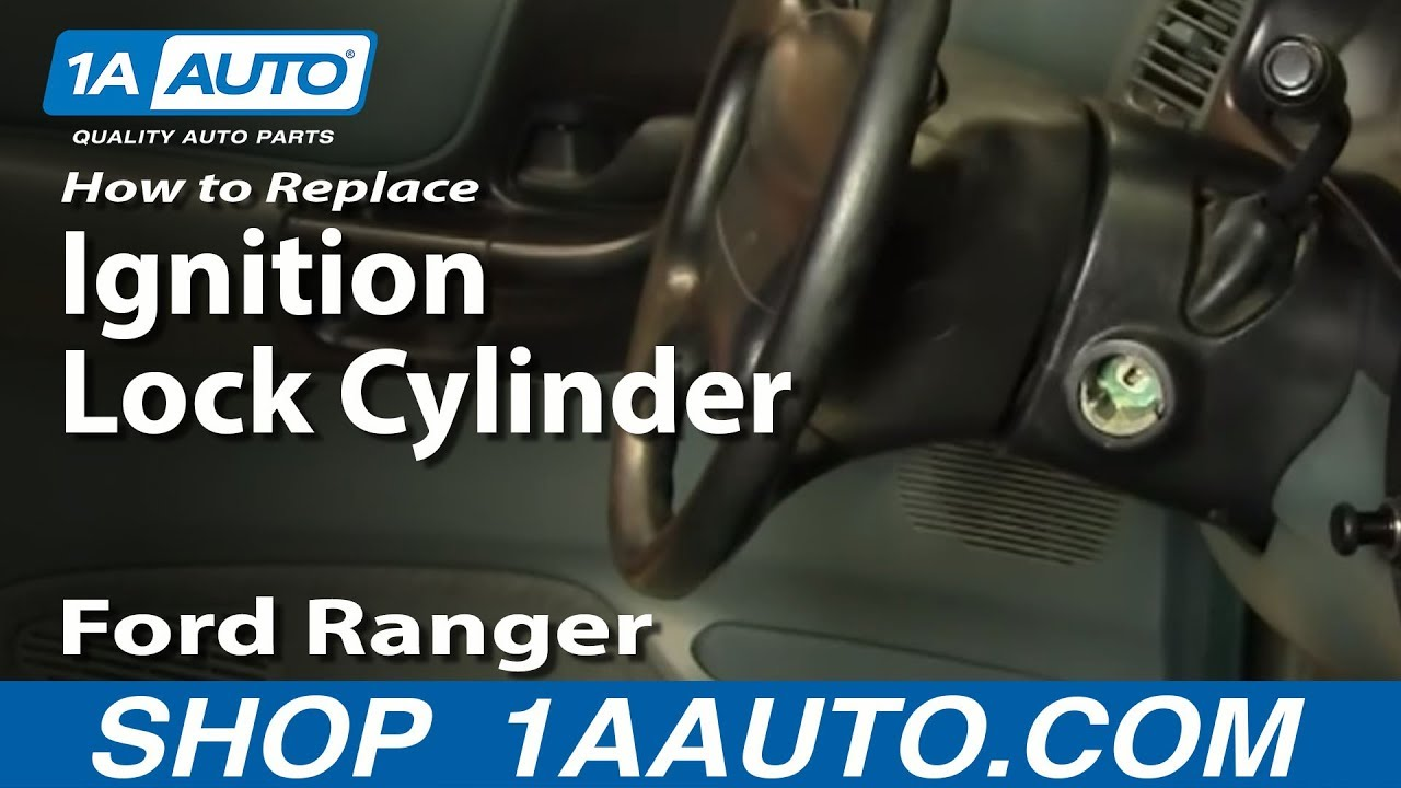 how to install replace worn out sticking ignition key lock cylinder ford ranger 90 96 1aauto com [ 1280 x 720 Pixel ]