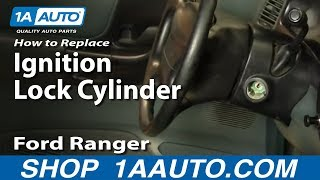 How To Install Replace Worn Out Sticking Ignition Key lock Cylinder Ford Ranger 90-96 1AAuto.com