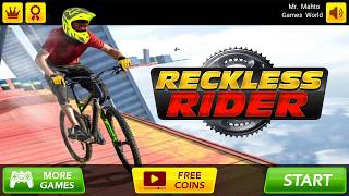 Reckless Rider    Cycle Racing Game    Android Gameplay