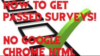 How to get passed Surveys {SOLVED!}