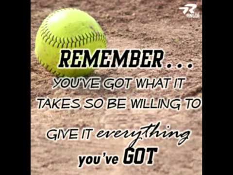 amazing softball quotes youtube