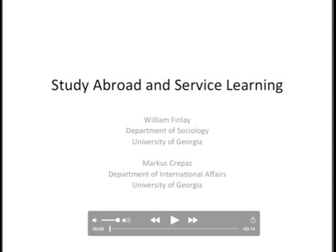 Study Abroad and Service Learning