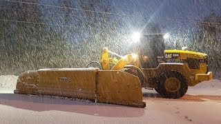 Video still for Cat 926M Plowing Road With MetalPless Snow Plow