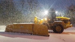 Cat 926M Plowing Road With MetalPless Snow Plow