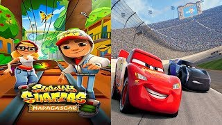 Disney Pixar Cars 3 Lightning McQueen VS Subway Surfers Madagascar Gameplay #28
