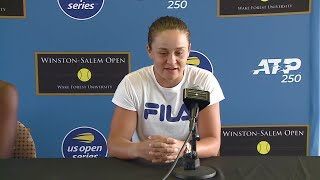 Ashleigh Barty and Coco Gauff Talking Tennis Ahead Of Their Winston-Salem Open Exhibition Match