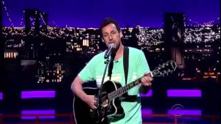 Adam Sandler Sings Farewell Song To David Letterman