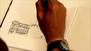 Stephen Wiltshire sketches Buckingham Palace