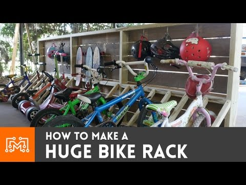 Bike Rack Scooters And Skateboards Too How To Youtube