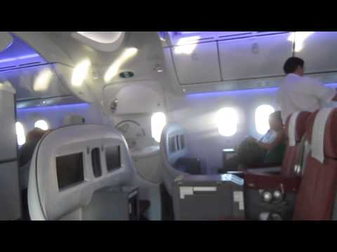 LAN Chile Dreamliner 787 Premium Business Frankfurt to Madrid.