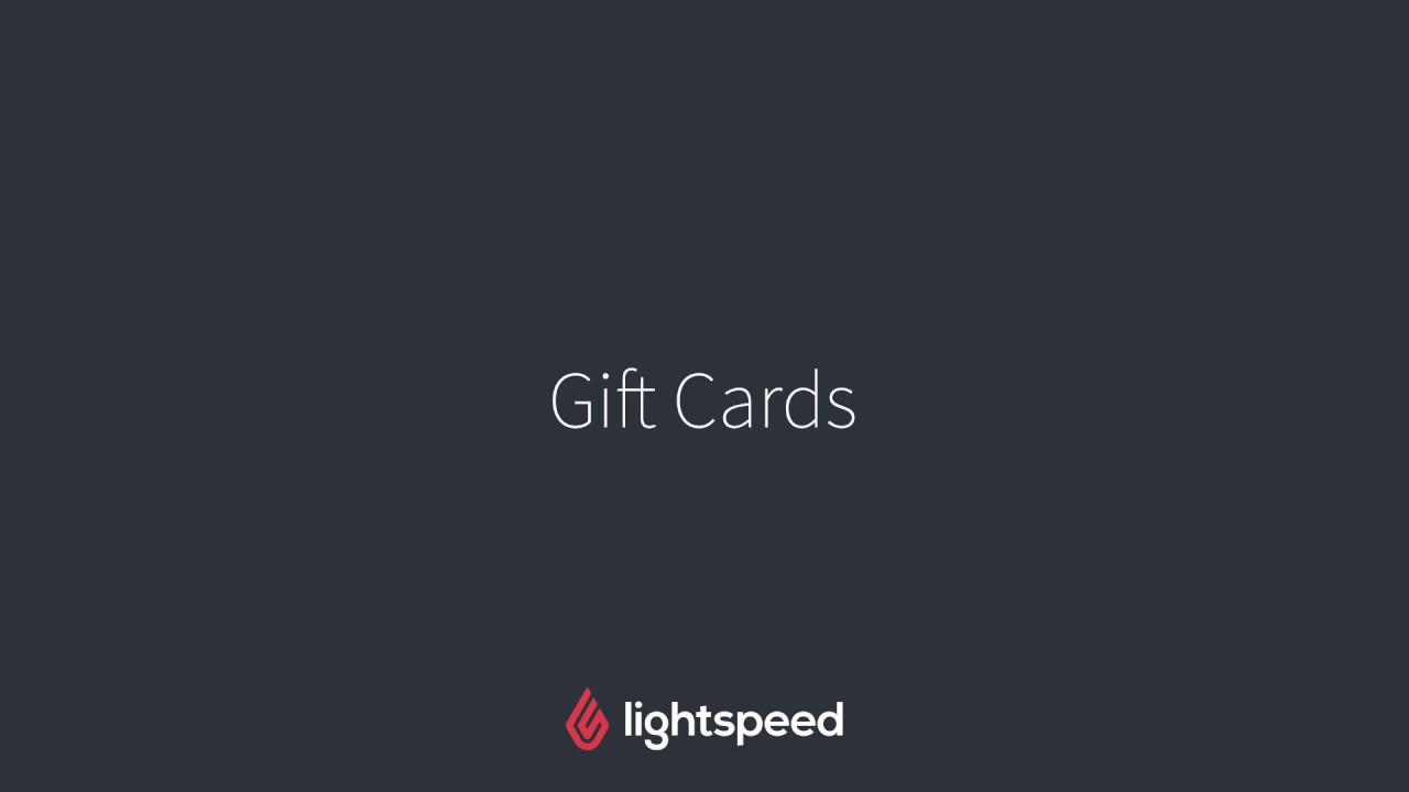 Understanding gift cards – Lightspeed Retail