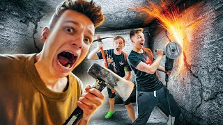 LOCKED YouTubers in CONCRETE Unbreakable Box! *STRONGEST BOX YET*