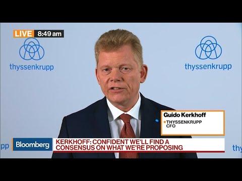 Thyssenkrupp's CFO Says Merger Creates Future for Steel