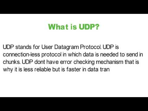 What Is The Full Form UDP? - YouTube