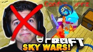 """Minecraft SOLO SKY WARS #10 """"AM I HACKING?..."""" w/PrestonPlayz"""