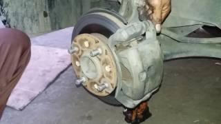 Cara mudah mengganti kampas rem depan/brake pad mobil avansa/senia